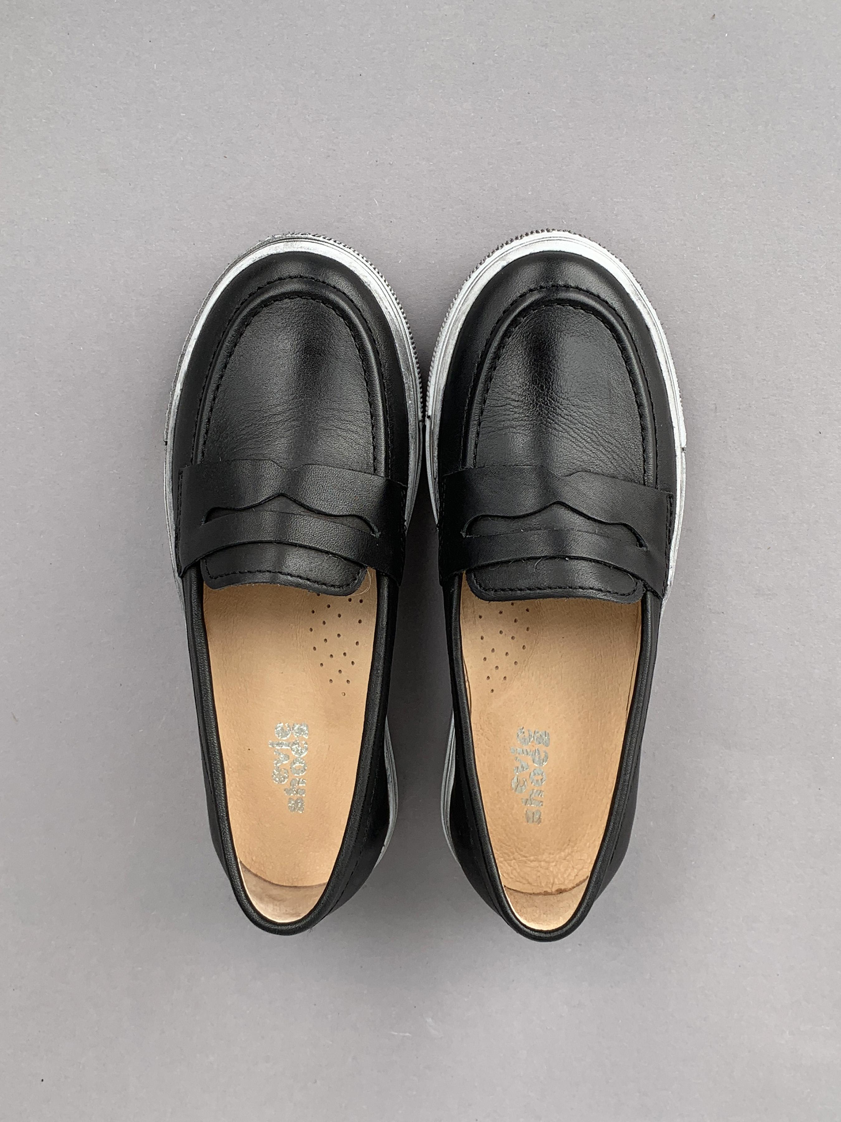 Слипоны детские Aiden Black/Grey 200-4K брендовая обувь, 2017