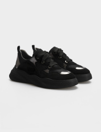 Кросівки  для жінок Кроссовки 21301517 серебристый/черная замша 21301517 замовити, 2017