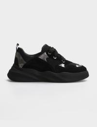 Кросівки  для жінок Кроссовки 21301517 серебристый/черная замша 21301517 дивитися, 2017