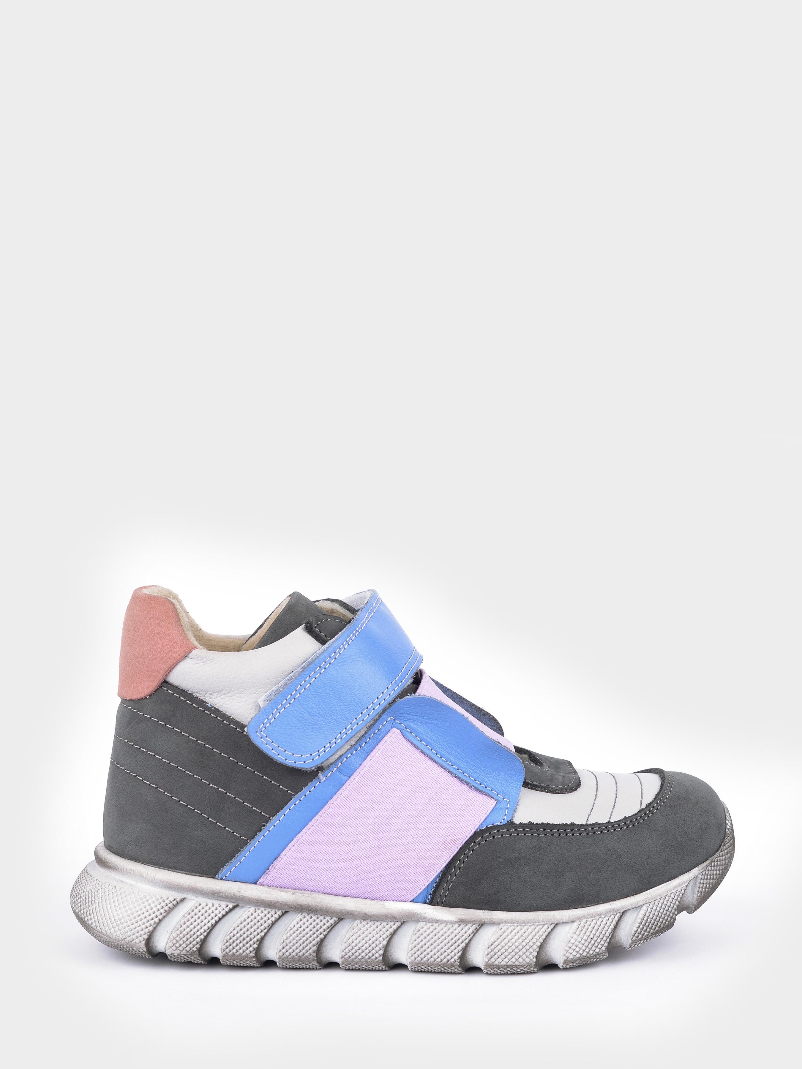 Купить Ботинки детские Демисезонные ботинки для девочки 2388-16, Liya, Серый, Голубой