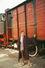 Плащ женские Anna Yakovenko модель 2432 качество, 2017