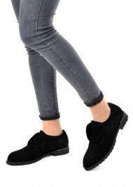 женские 250501 Туфли замшевые черные Modus Vivendi 250501 брендовая обувь, 2017