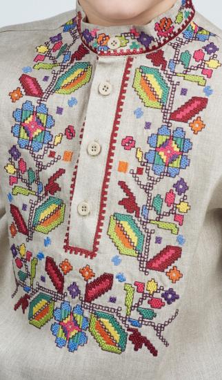 Сорочка з довгим рукавом Едельвіка модель 252-20-08 — фото 3 - INTERTOP