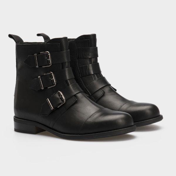 Ботинки для женщин Ботинки 277531 черная кожа. Байка 277531 цена, 2017