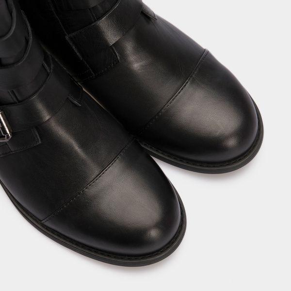 Ботинки для женщин Ботинки 277531 черная кожа. Байка 277531 примерка, 2017