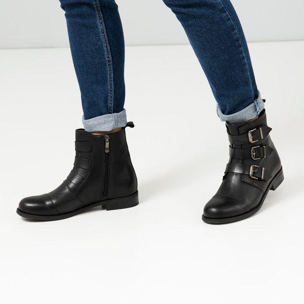 Ботинки для женщин Ботинки 277531 черная кожа. Байка 277531 выбрать, 2017