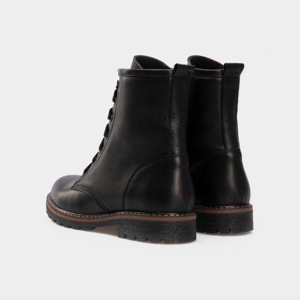 Ботинки женские Ботинки 2916-030 черная кожа. Хутро 2916-030 примерка, 2017