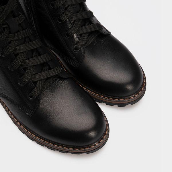 Ботинки женские Ботинки 2916-030 черная кожа. Хутро 2916-030 выбрать, 2017