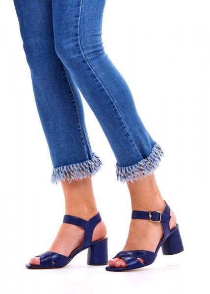 для женщин 297121 Синие кожаные босоножки Modus Vivendi 297121 бесплатная доставка, 2017