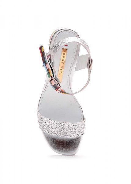 Босоножки для женщин 297601 Кожаные серебряные босоножки Modus Vivendi 297601 выбрать, 2017