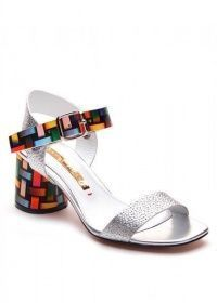 Босоножки для женщин 297601 Кожаные серебряные босоножки Modus Vivendi 297601 цена обуви, 2017