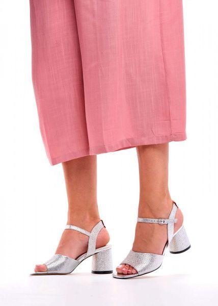 Босоножки для женщин 297801 Серебряные кожаные босоножки Modus Vivendi 297801 купить онлайн, 2017