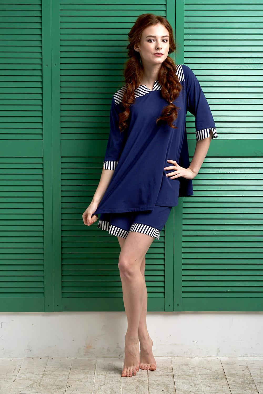 Піжама жіноча Effetto модель 0128 Жіночий піжамний комплект - фото