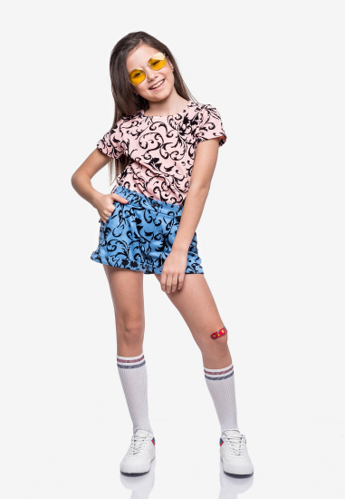 Блуза з коротким рукавом Kids Couture модель 30020302 — фото - INTERTOP