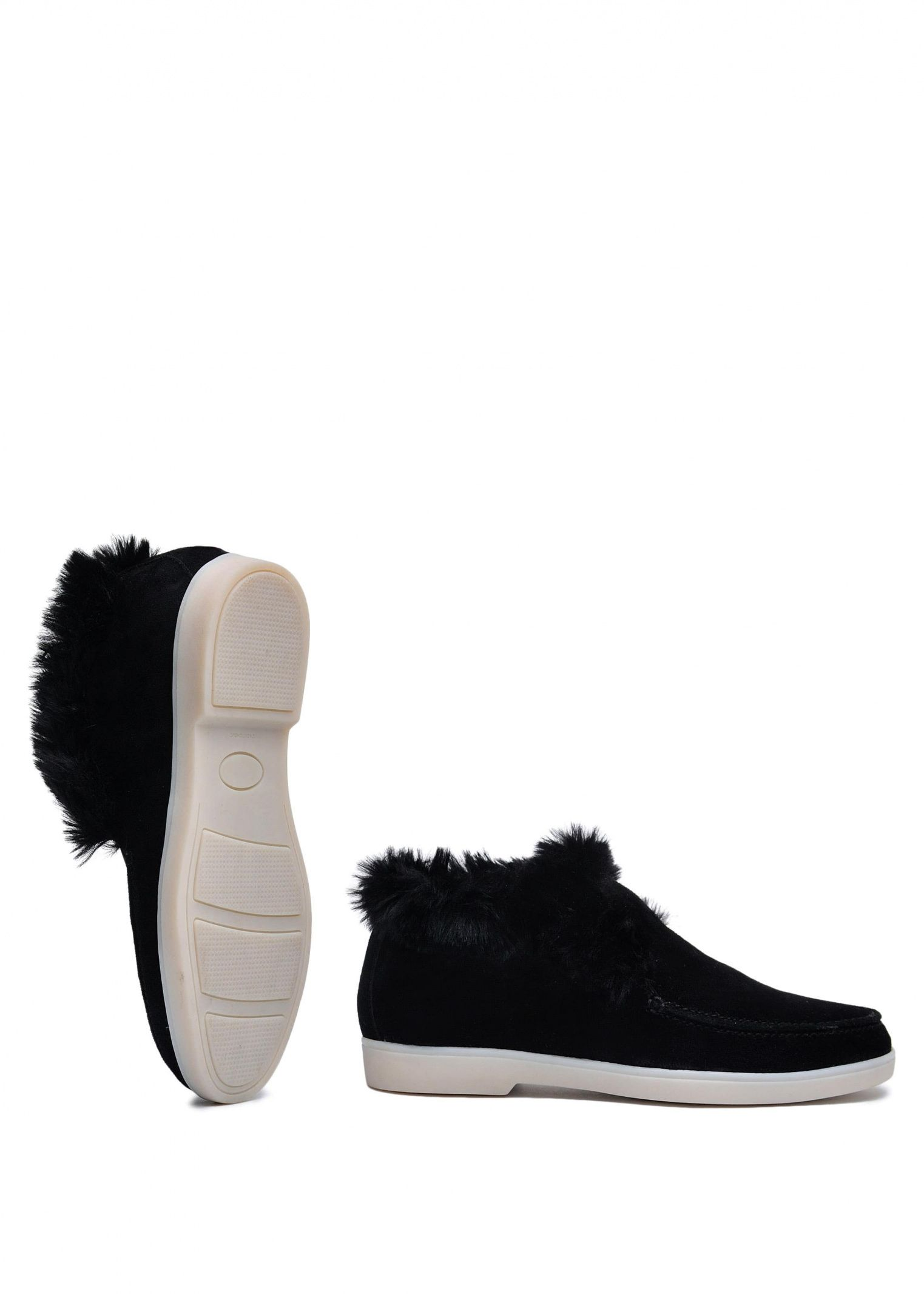 Черевики  жіночі 329931 Замшевые черные ботинки на меху Modus Vivendi 329931 вибрати, 2017