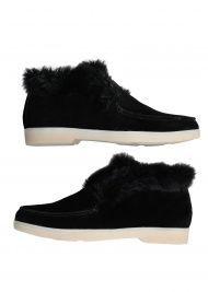 Черевики жіночі 329931 Замшевые черные ботинки на меху Modus Vivendi 329931 - фото