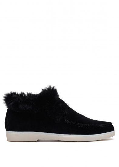 Черевики  жіночі 329931 Замшевые черные ботинки на меху Modus Vivendi 329931 дивитися, 2017