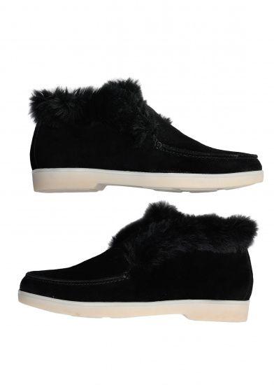 Черевики  жіночі 329931 Замшевые черные ботинки на меху Modus Vivendi 329931 ціна взуття, 2017