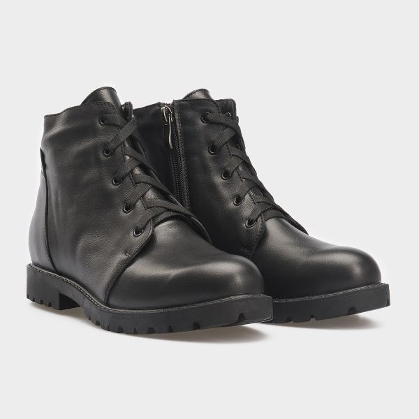 Ботинки женские Ботинки 3353-030 черная кожа. Хутро 3353-030 купить в Интертоп, 2017
