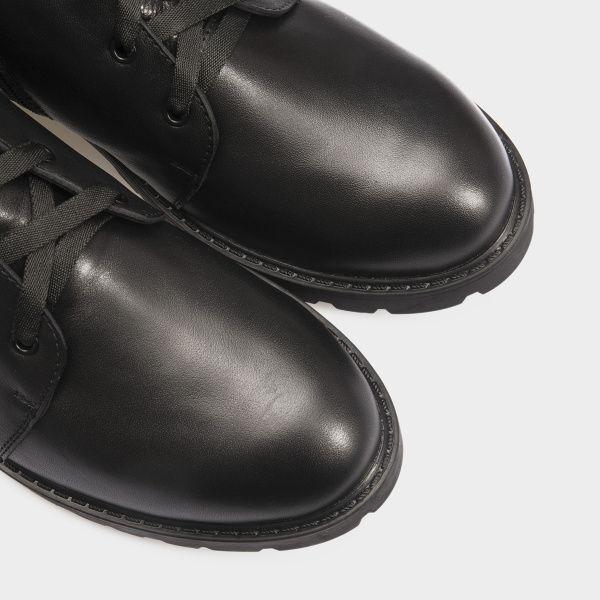 Ботинки женские Ботинки 3353-030 черная кожа. Хутро 3353-030 выбрать, 2017