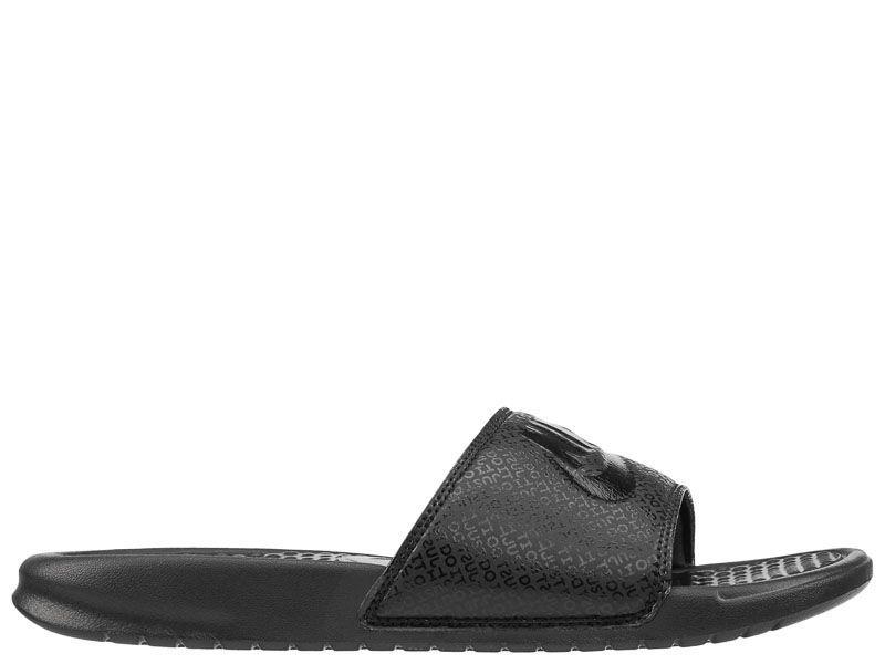 """Тапки для мужчин Nike Benassi """"Just Do It."""" Black Black 343880-001 смотреть, 2017"""