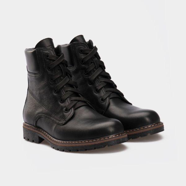 Ботинки женские Ботинки 385-030 черная кожа. Хутро 385-030 размерная сетка обуви, 2017