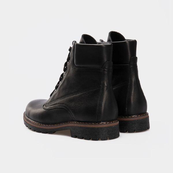 Ботинки женские Ботинки 385-030 черная кожа. Хутро 385-030 брендовая обувь, 2017