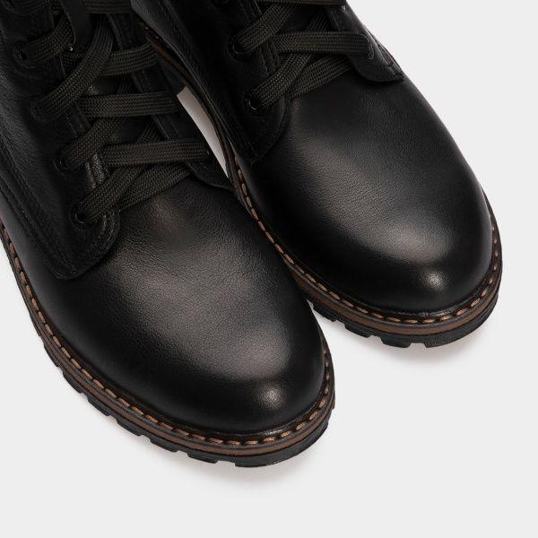 Ботинки женские Ботинки 385-030 черная кожа. Хутро 385-030 купить в Интертоп, 2017