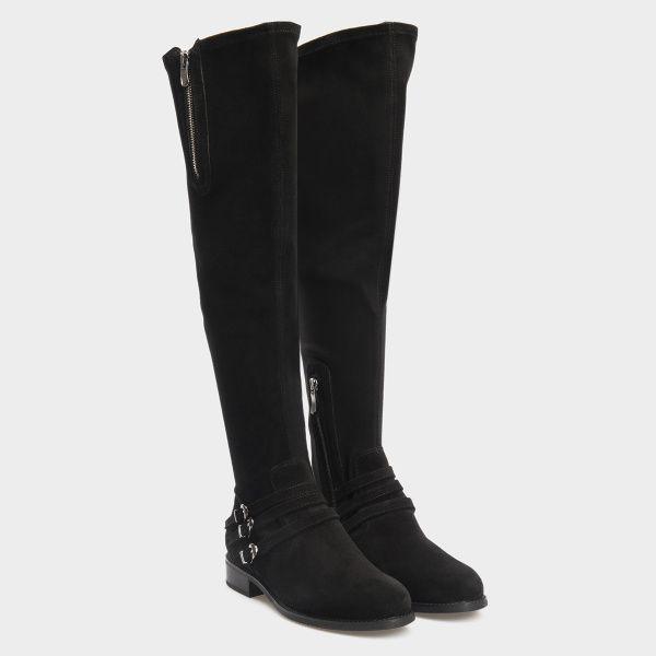 Сапоги для женщин Сапоги 401761520 чорная кожа 401761520 продажа, 2017