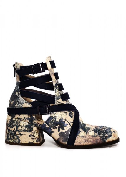 Купить Ботинки женские 424251 Кожаные ботинки в принт 424251, Modus Vivendi