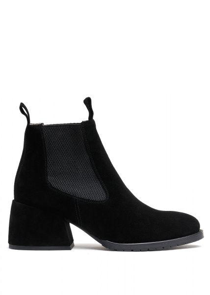 для женщин 425421 Черные замшевые ботинки Modus Vivendi 425421 примерка, 2017