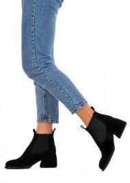 для женщин 425421 Черные замшевые ботинки Modus Vivendi 425421 выбрать, 2017