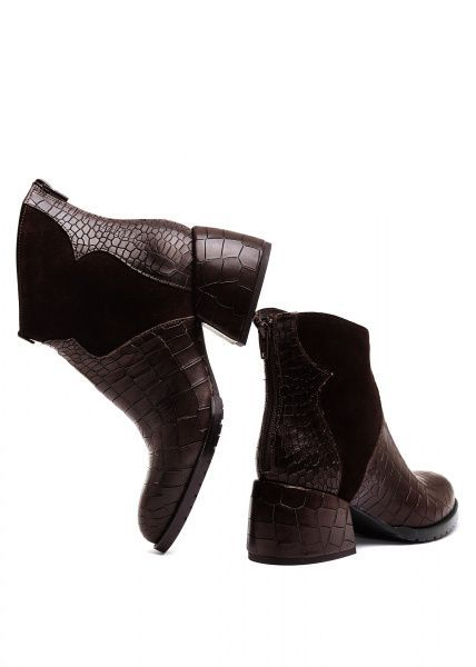 для женщин 425731 Кожаные ботинки шоколадного цвета Modus Vivendi 425731 модные, 2017