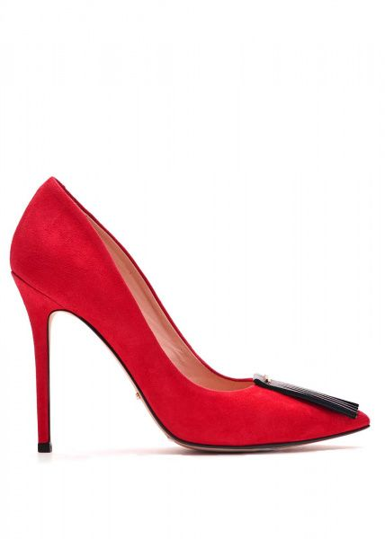 Купить Туфли женские 431301 Замшевые красные туфли 431301, Modus Vivendi