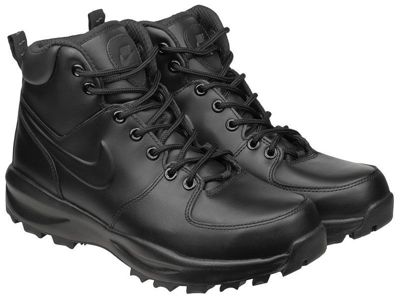 Ботинки для мужчин NIKE MANOA LEATHER Black 454350-003 цена обуви, 2017