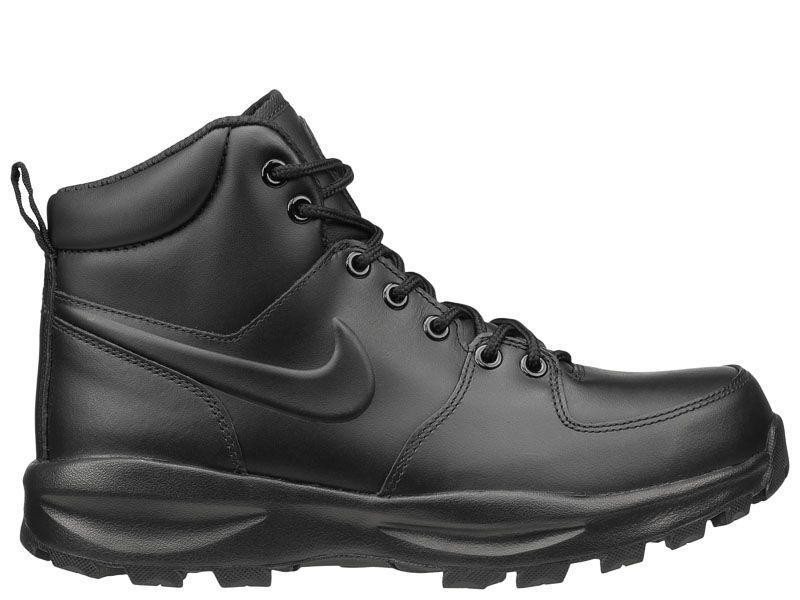 Ботинки для мужчин NIKE MANOA LEATHER Black 454350-003 примерка, 2017