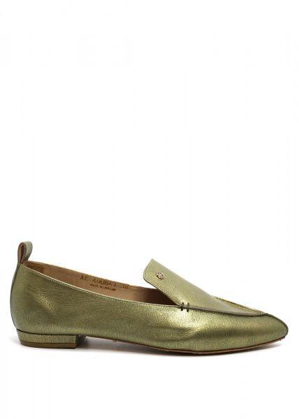 Купить Балетки женские 490841 Кожаные балетки цвета хаки Modus Vivendi 490841