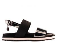 Босоножки женские Trussardi Jeans 79S585 BLACK GLITTE модная обувь, 2017