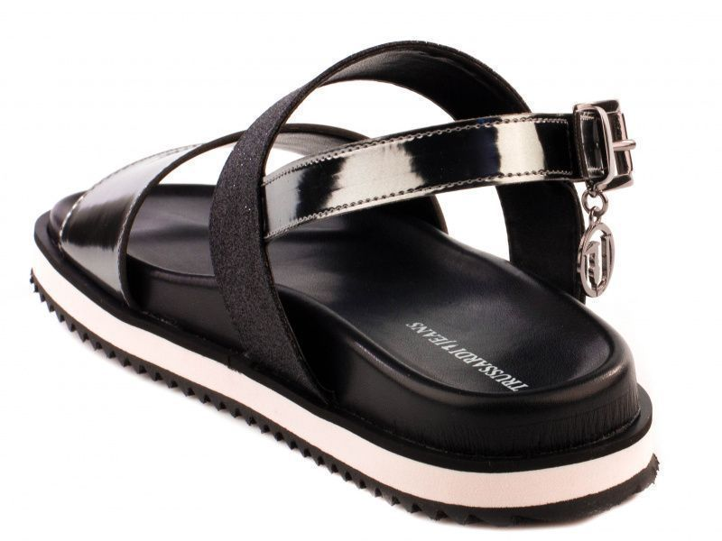Босоножки женские Trussardi Jeans 79S585 BLACK GLITTE брендовая обувь, 2017