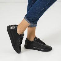 Кеды для женщин Кеды 510826711-8 черная кожа 510826711-8 брендовая обувь, 2017