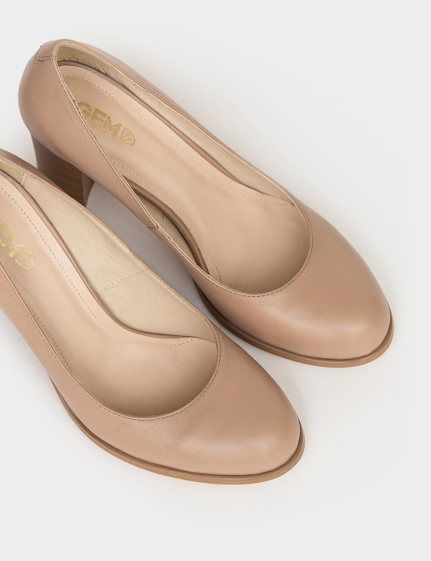Туфлі  для жінок Лодочки 53014516-1 розово-бежевая кожа 53014516-1 вибрати, 2017