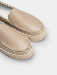 Кеды женские Слипоны 53308880-2 бежевая кожа 53308880-2 размерная сетка обуви, 2017