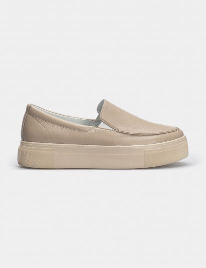 Кеды женские Слипоны 53308880-2 бежевая кожа 53308880-2 модная обувь, 2017