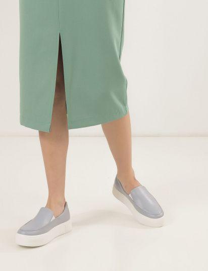 Кеды женские Слипоны 53308980-1 голубая кожа 53308980-1 размерная сетка обуви, 2017