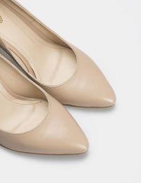 Туфли для женщин Лодочки 54587448-3 бежевая кожа 54587448-3 брендовая обувь, 2017