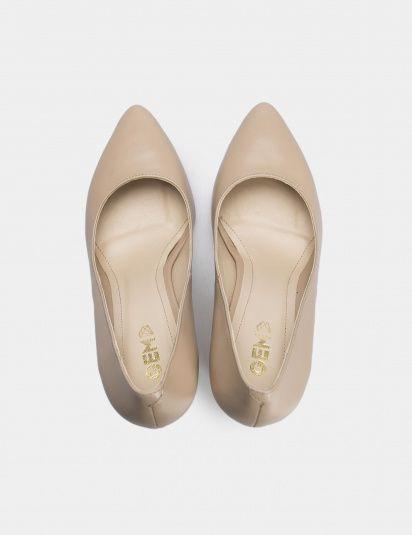 Туфли для женщин Лодочки 54587448-3 бежевая кожа 54587448-3 примерка, 2017