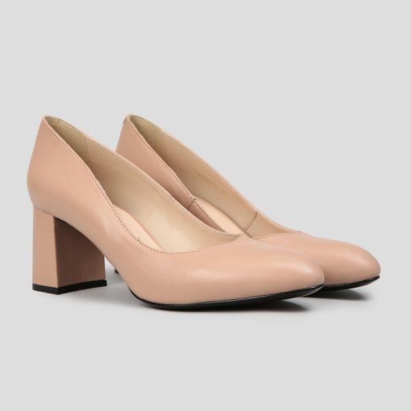 Туфли женские Лодочки 56314516 розово-бежевая кожа 56314516 цена, 2017