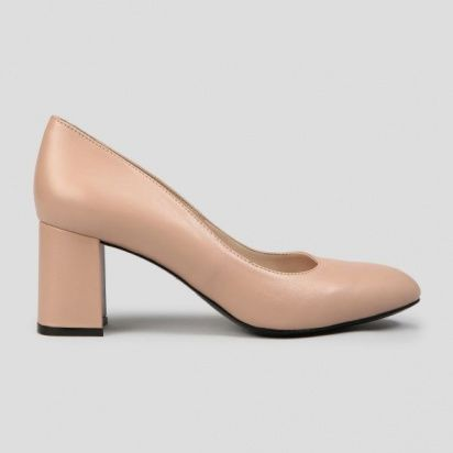 Туфли женские Лодочки 56314516 розово-бежевая кожа 56314516 размерная сетка обуви, 2017