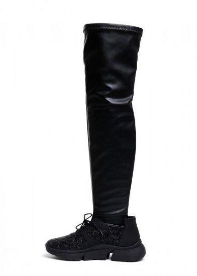 женские 565109 Кожаные кроссовки с чулком Modus Vivendi 565109 выбрать, 2017