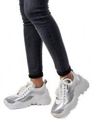 """для женщин 565500 Белые кожаные кроссовки """"Ugly shoes"""" Modus Vivendi 565500 фото обуви, 2017"""